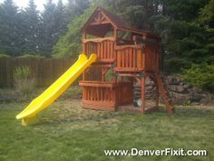 Charmant A Backyard Adventures Playset Relocation. Had To Take This One Apart Extra  To Squeeze Out