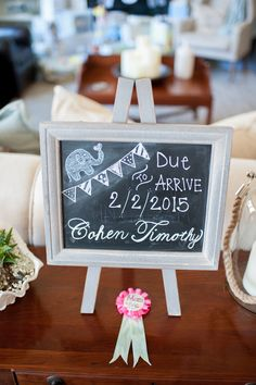 Easily decorate your home or venue with chalkboard signs.   Alyssa Renee Photography