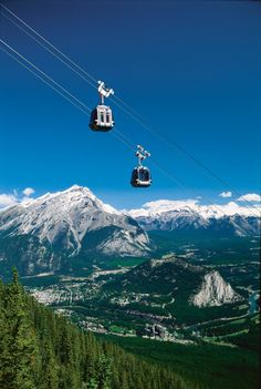 Banff gondola.  October 5th. Had Starbucks at the highest altitude.  Was a bit scared!