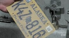 Aaron is excited by finding an Alaskan license plate ... Please read more and let's hear your thoughts at: http://allaboutthetea.com/2015/03/30/thewalkingdead-season-5-finale-recap-conquer-episode-16/