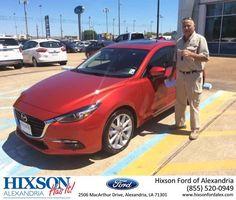 Congratulations Mark on your #Mazda #Mazda3 5-Door from Joel Massey at Hixson Ford of Alexandria!  https://deliverymaxx.com/DealerReviews.aspx?DealerCode=UDRJ  #HixsonFordofAlexandria