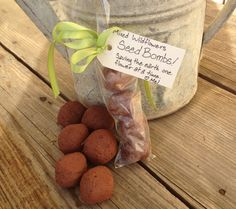 Poss for Shelly, have seen other tutorials DIY Wildflower Seed Bombs! ~ What on earth is a seed bomb? Well to describe them, they are clever little balls of clay, dirt, and seeds that you can make and share as gifts! Easy Garden, Lawn And Garden, Edible Garden, Seed Bombs, Wildflower Seeds, Spring Sign, Garden Gifts, Dream Garden, Garden Projects