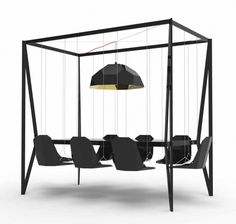Bringt Schwung in fade Meetings: Swing Table von Christopher Duffy
