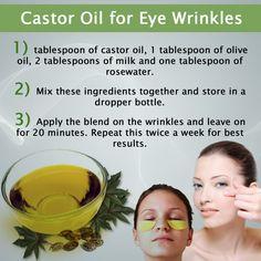 Castor Oil for Eye Wrinkles - Castor Oil uses & Health Benefits