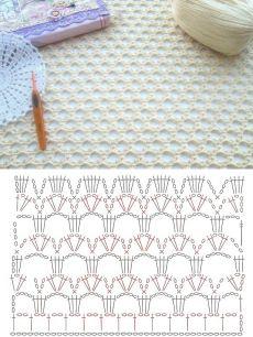 Нежный узор сеточка крючком+СХЕМА. Сетка крючком схемы вязания сеток | Домоводство для всей семьи.