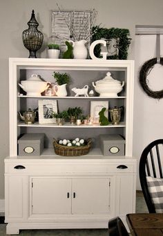 Love this white hutch. You can do anything and decorate for any holiday. Love…