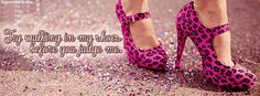 Try Walking In My Shoes facebook covers for you to use on your facebook profile.