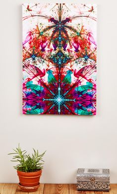 Spring Kaleidoscope Canvas Art. #earthboundtrading