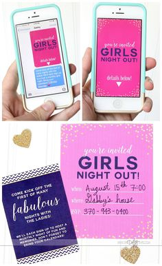 Girls Night Out Ideas and Invitations