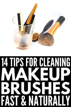 How to Clean Makeup Brushes The Right Way: 14 Tips and Tricks 10 Natural Makeup Brush Cleaner Tips and Ideas Best Makeup Brushes, How To Clean Makeup Brushes, Best Makeup Products, Make Up Palette, Tips And Tricks, Beauty Tricks, Fall Makeup Looks, Winter Makeup, Diy Makeup Brush Cleaner