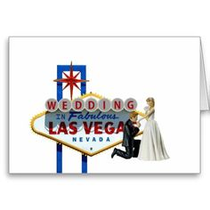 WEDDING In Fabulous Las Vegas Card, Bride & Groom