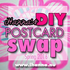 Awesome swap! The annual DIY Postcard Swap is hosted by @ihanna #diypostcardswap #mailart #vykort