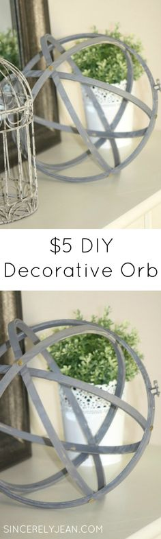 DIY Decorative Orb for $5!