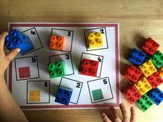 sencilla, pero ideal para los últimos cursos de infantil Montessori, Lego Activities, Math Boards, Lego Duplo, Number Sense, Legos, Education, Learning, Games