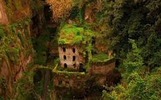 Overgrown, Sorrento, Italy photo by invivo I have the same picture, mine doesn't look quite as good tho lol Sorrento Italia, Great Buildings And Structures, Old Buildings, Haunted Places, Abandoned Places, Stunning Photography, Landscape Photography, Nature Photography, Eilean Donan