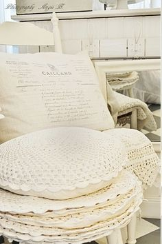 Would love to do ALL cream granny square cushions!!!