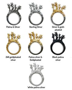 Hand Made Fine Silver Rings - $91.00