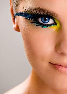 costumes ~ eye makeup ~ Peacock L: