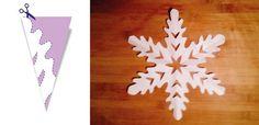 Jak zrobić śnieżynki z papieru – szablony (DIY)   Mamotoja.pl Christmas Holidays, Christmas Crafts, Snowflakes, Origami, Triangle, Diy, Decor, Hipster Stuff, Paper