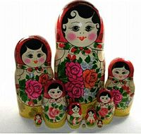 At a time when patriotism & culture seemed the vital issues of the day, a 2nd major dollmaking center was opened in Russia - the Zagorsk Artistic-Production Workshop. A 3rd, the Factory of Toys and Cultural items, opened in 1947. Little by little, across the decades, further dollmaking centers arose throughout Russia, & though the dolls made in the east do possess a characteristic 'Asian' look to them, for the most part, nesting dolls produced between 1920s - 1980's have a remarkable…