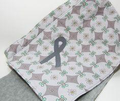 Gray Brain Cancer Awareness Ribbon Scarf Brain Tumor, Brain Injury, Brain Cancer Awareness, Degenerative Disease, Patrick Harris, Grey Ribbon, Small White Flowers, Cozy Scarf, Awareness Ribbons