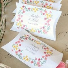 Vintage Floral Pillow Boxes