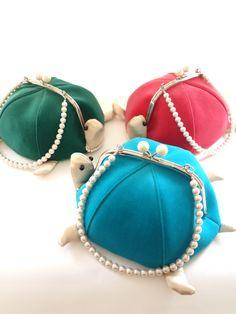 Fabric Wallet, Fabric Bags, Japan Bag, Animal Bag, Frame Purse, Diy Purse, Purse Patterns, Mini Bag, Bag Making