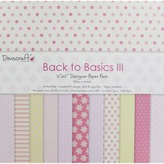 Back to Basics III Paper Pack - 12 x 12 Inches | Card Making Supplies at The Works