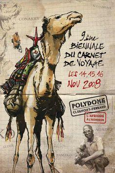 9e travel sketchbook festival, Clermont-Ferrand, 2008 - Graphic design & illustrations
