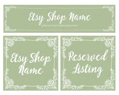 ON SALE  Etsy Cover Photo  Floral Etsy Shop Covers   by RhondaJai