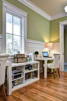 Looking for Living Space and Home Office ideas? Browse Living Space and Home Office images for decor, layout, furniture, and storage inspiration from HGTV. Luxury Interior Design, Interior Architecture, Interior Decorating, Interior Designing, Decorating Tips, Home Office, Kids Office, Office Workspace, Office Walls