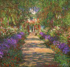 Claude Monet - Garten in Giverny