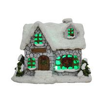 Miniature Gray House with LED by Celebrate It™
