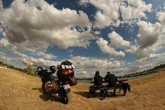 Little break in France, near Barbizon Painters, Monster Trucks, Motorcycle, France, World, Vehicles, Motorcycles, Car, The World