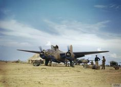 A Douglas Boston aircraft 'S-Sugar' of No 24 Sqn South African Air Force running up its engines on an airfield in the North African desert. Air Force Aircraft, Ww2 Aircraft, Fighter Aircraft, Fighter Jets, Military Jets, Military Aircraft, Us Bombers, South African Air Force, Ww2 Pictures