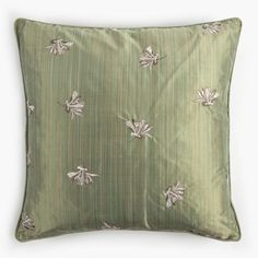 HONEYSUCKLE SILK CUSHION-MOSS