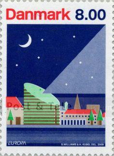 Europafrimærke, kunstner: Kubel