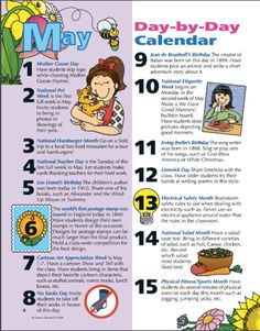Learn something new every day of the month! Hang this illustrated calendar up in your classroom and start each morning by sharing a fun fact with your students! Mother Goose, Spring Fever, Spring Is Here, Classroom Resources, Spring Cleaning, Short Stories, Fun Facts, Calendar, Students