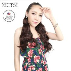 """Neitsi 1PC 107g/pc 22"""" 4B# 5 Clips Kanekalon Synthetic Braiding Ponytails Hair Pieces Clip In Hair Curly Weave Extensions"""