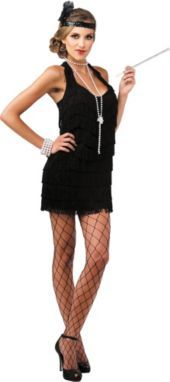 Halloween!  or even---Bachelorette Party 20's theme!!   Adult Lindy and Lace Flapper Costume - Party City