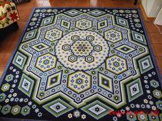 """Grit's Life: Hexagon Quilt """"La Passion"""""""