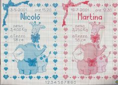Gallery.ru / Фото #60 - MOTIVOS INFANTIL - nnetthynunes Elephant Cross Stitch, Cross Stitch Heart, Cross Stitch Alphabet, Embroidery Stitches, Embroidery Patterns, Funny Cross Stitch Patterns, Baby Kind, Baby Disney, Baby Patterns