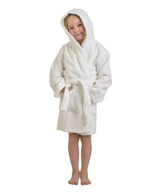 ec7be8e2a2 Home City White Long Staple Combed Cotton Hooded Bath Robe - Kids