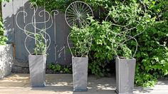 Bygg fina blomlådor med snirklig spaljé