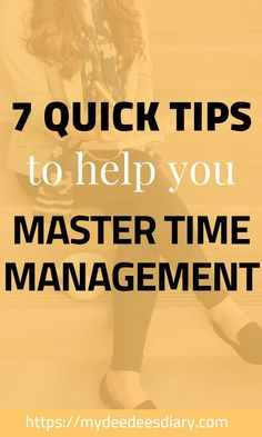 Have a hard time getting things done on time? Ready to become the master of your time? Here are 7 time management tips to help you manage your time like a boss #timemanagement #organization #productivity #productive #productivitytips #success #goalsetting #motivation #timemanagement #millennialblogger #millennials time management tips | productivity and organization | time management | productivity, goal setting & planning | Time Management / To Do Lists / Goal Setting | Tips For Success