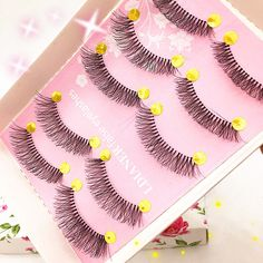 5 Pairs Natural Long Sparse Cross Eye Lashes Extension Makeup False Eyelashes Hot New