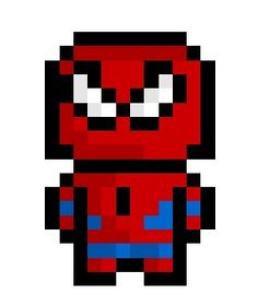 Pixel Spider-Man 2.0, everyone's favourite neighbourhood web slinger derezzed again for posterity.