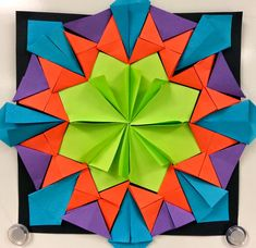 Radial Paper Relief Sculptures (4th)