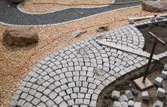 Verlegemuster Granitpflaster schuppenmuster gala driveways paving pattern and