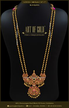 Gold Jewelry Simple, Simple Necklace, Necklace Set, Diamond Jewelry, Beaded Jewelry, Gold Haram, Gold Pendent, Coimbatore, Gold Necklaces